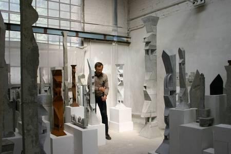 Friedemann Grieshaber im Atelier