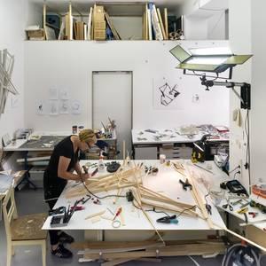 Nicole Nickel im Atelier