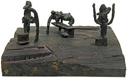 R. Szymanski, Die Frauen von Messina: L'Èphémère, Bronze, 1978