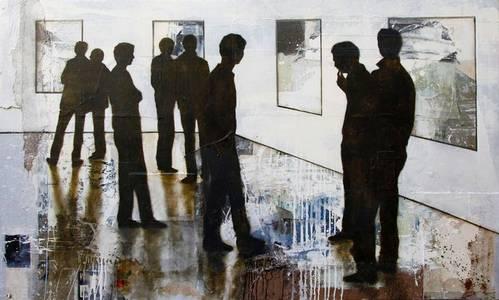 Der Boden auf dem wir stehen, Mischtechnik/Holz, 2014, 140x120 cm