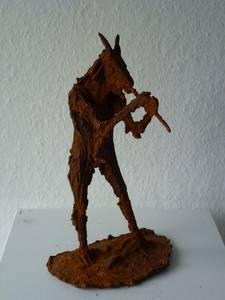 Pan mit Flöte, Eisen, 2012, H29,5 cm