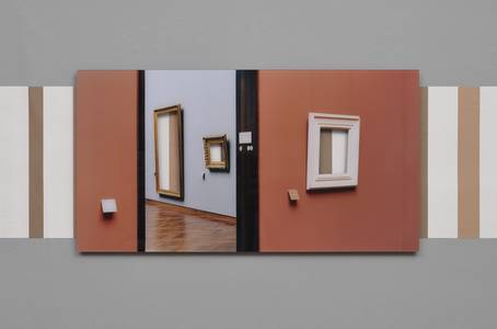 Martin Brüger, Le Dèjeuner, Farbfotografie, Acylglas/Holz/Tapete, 2006