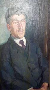 Ludwig Meidner, Herrenporträt, Öl/Lwd., 1906/07, 80 x 45 cm