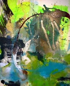 Irische Landschaft, Mischtechnik/Lwd., 2014, 100x80 cm