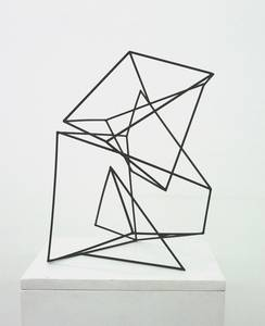 A. Lincke-Zukunft, Stapelung, Holzstäbe schwarz, 2009