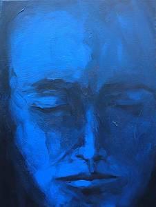 Titus Lerner, Blauer Kopf, Acryl/Lwd., 214/15