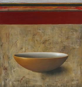 Michael Lauterjung, Güldene Schale, Acryl/Lack/Epoxidharz/Holz