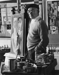 Ernst Vogel im Atelier