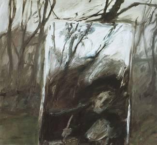 Selbst im Spiegel/Dämmerung, Öl/Lwd., 1979, 120x130 cm