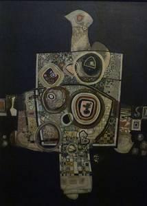 L. Grewenig, Gestein, Öl/Holz, 1962