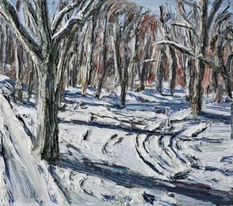Wintersonne im Tiergarten, 2013, 160x180 cm