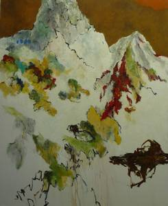 Mont Valdoi, Öl/Lwd., 2010, 100x80 cm
