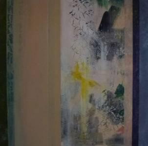 Gerd Winter, Fragmentarisch I, MT/Lwd., 2013/14, 80x80 cm