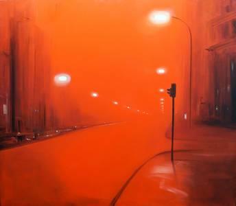 Roter Nebel, 2012, 140x160 cm