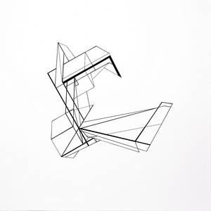 CZ20/20, Collage/Zeichnung, verschiedene Papiere, 70x70 cm