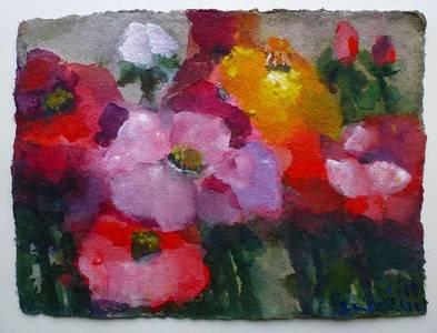 Rosen, Aquarell/Gouache, 2015, 27,5x37 cm