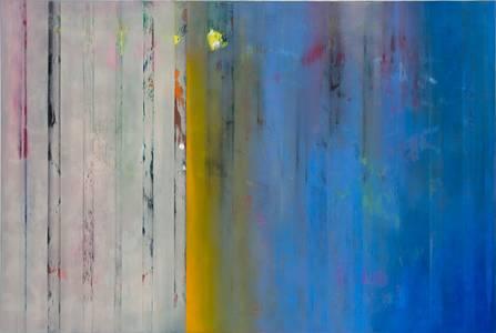 Gerd Winter, Spannungsbogen, Mischtechnik/Lwd., 100x150 cm, 2015