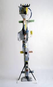 Menno Fahl, Königin, versch. Materialien, H 225 cm