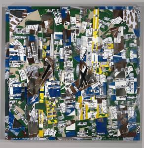 Glora Brand, Das Grüne, Gelb-Blau, Collage