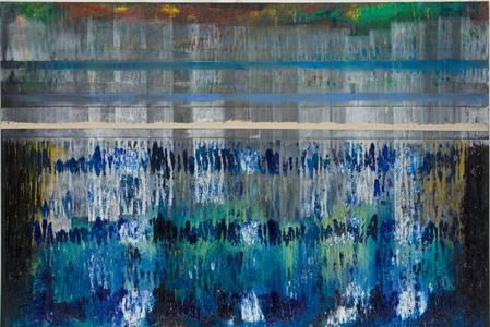Gerd Winter, Giverny, Mischtechnik/Lwd., 100x150 cm, 2015