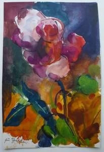 Müller-Linow, Rosen für Gretchen, Aquarell, o.J. 35x23 cm