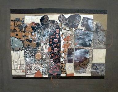 L. Grewenig, Bildhafte Fläche, Öl/Holz, 1963