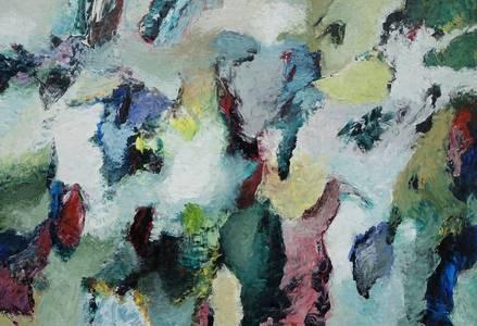 Farbspiel 2, Öl/Lwd., 2018, 110x150 cm