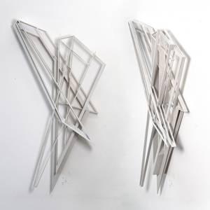 O20/09, Objekt, Holz, koloriert, 2020, 128x60x19 cm