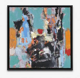 H. Kürschner, Brauhexe, Öl/Lwd., 2010, 50x50 cm