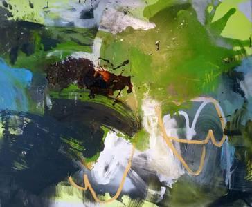 Cathair na Mart, Mischtechnik/Lwd., 2013, 100x120 cm