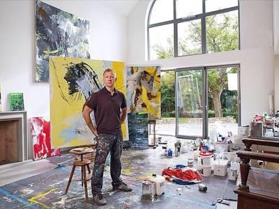 Ralph Gelbert im Atelier