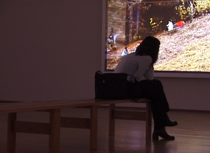 Lukas Einsele, Biljana oberserving storyteller, Video, 1999/2019