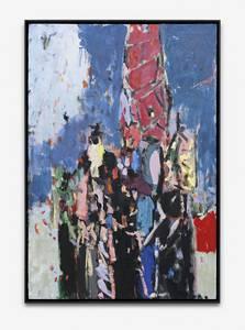 H. Kürschner, Menetekel, Öl/Lwd., 2017, 154x104 cm