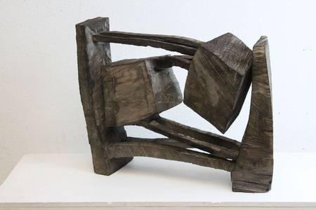 O.T., Holz geschwärzt, 2018, 110x50x20 cm