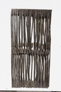O.T., Holz geschwärzt, 2016, 79x38x3 cm