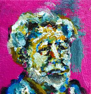 Manfred Mahsberg, Ezra Pound, Öl/Nessel/MDF, 2015/16