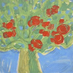 Blumen, Mischtechnik, 1966
