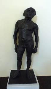 Grzimek, Bedrohter I, Bronze, 1969, H 74 cm