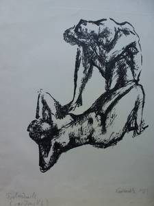 Grzimek, Paar, Lithographie, 1963