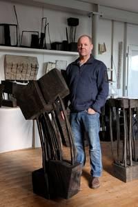 Armin Göhringer im Atelier