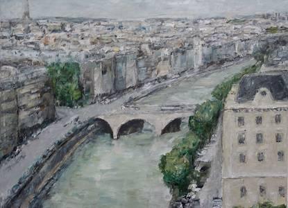 Paris, Öl/Lwd., 2018, 70x90 cm