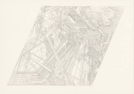 Christian Pilz, Ohne Titel, Bleistift, 2017, 70x100 cm