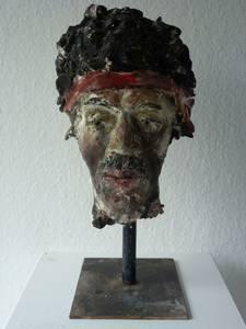 Jimi Hendrix, Gips bemalt, 2015, H 40 cm