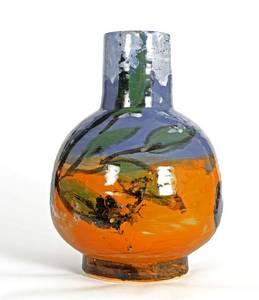 Herbstfrüchte, Vase/Keramik, 2013, H 25,3 cm