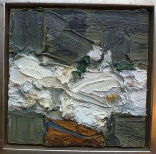 Weiße Rosen, Öl/Lwd., 2010, 35x35,5 cm