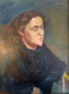 Ludwig Meidner, Damenbildnis, Öl/Lwd., 1930, 63x49 cm