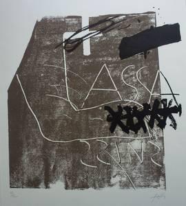 Antoni Tàpies, Farblithographie