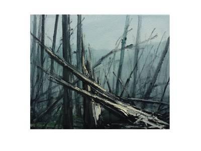 Helge Hommes, Into the Trees, Öl/Leinwand