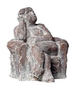 Wanda Pratschke, Kleine Sesselfrau,  Bronze